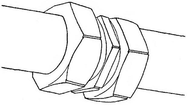 Резьбовое соединение металлопластиковых труб.
