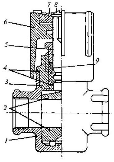 Схема крана регулирующий трехходовой типа КРТП