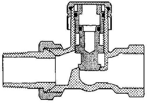 Как схематично выглядит запорно-регулирующий кран