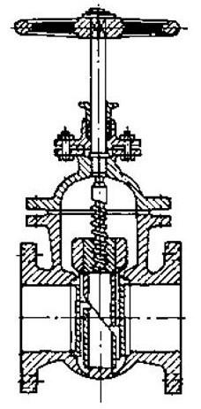 Схема фланцевой параллельной задвижки
