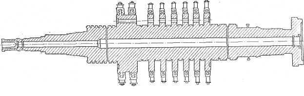 Ротор турбины 6 Мет с промышленным отбором пара Калужского турбинного завода (КТЗ)