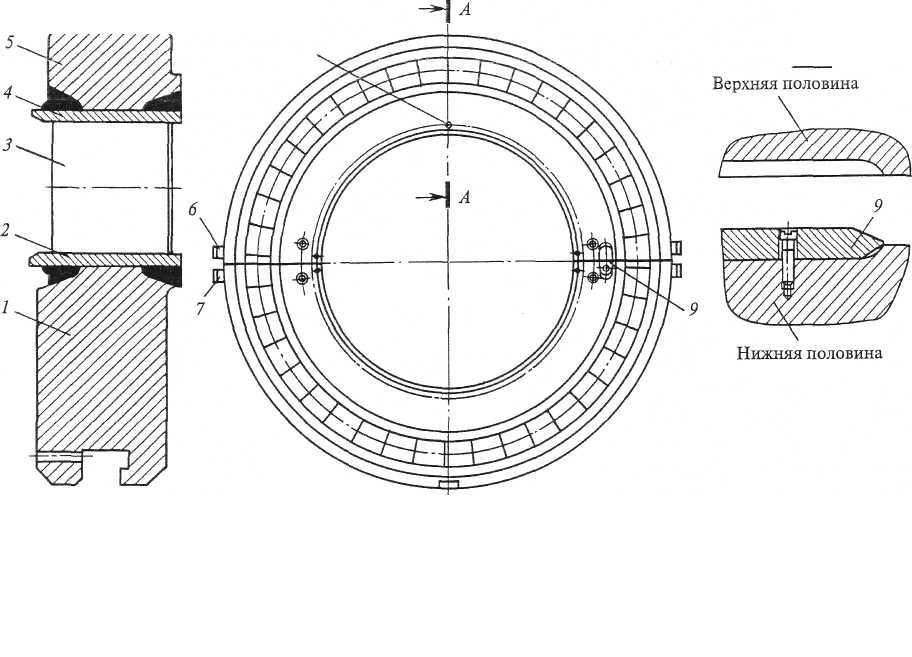 Сварная диафрагма для ЦВД турбин