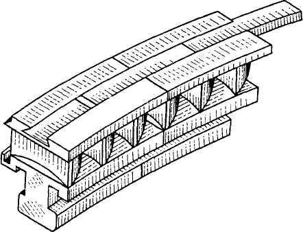 Пакеты рабочих лопаток с демпферной связью для регулирующей ступени