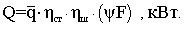 Тепловосприятие экрана формула